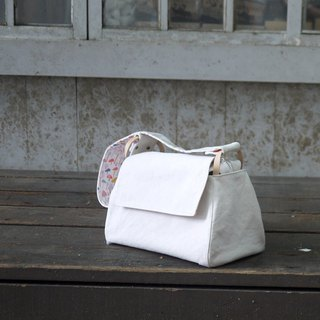 Micro fat toast bag No. 8 washed paraffin canvas white