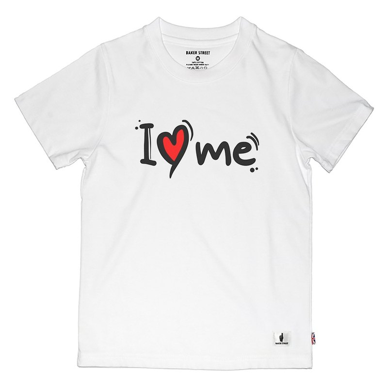 British Fashion Brand -Baker Street- I Love Me Printed T-shirt for Kids