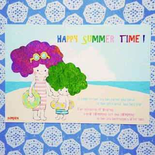 Postcard (Summer) Happy summer time every summer I go to the beach!