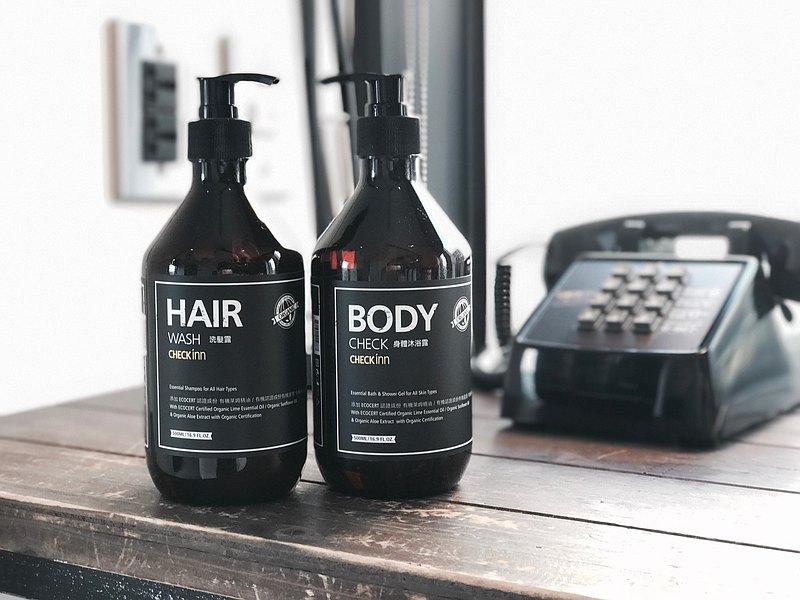 有機精油洗髮精、沐浴乳組 (各500ml)