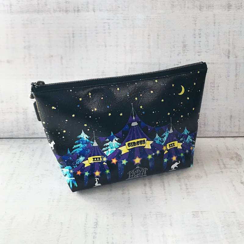 Pouch Miracle Night Circus / Cosmetic pouch / accessory case / star / moon