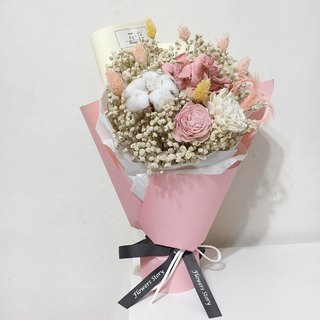 / Dry Flower / Contrast Love Bouquet-Pink