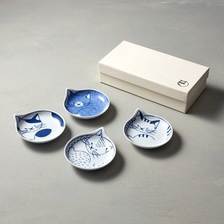 Shizuka Pokzo Saki- neco Cat - Small Dishes Gift Set (4 pieces)