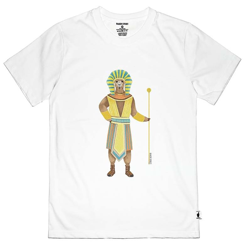 British Fashion Brand -Baker Street- Alpaca Pharaoh Printed T-shirt