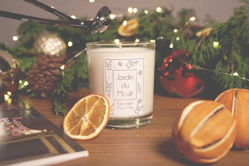 Midnight handmade soy candle garden - Rudolph poo