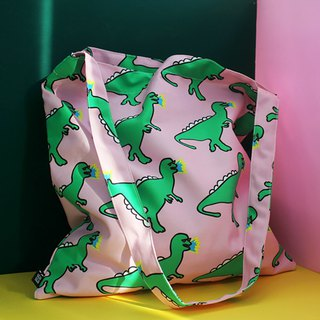 Sunglasses dinosaur side green canvas bag large storage