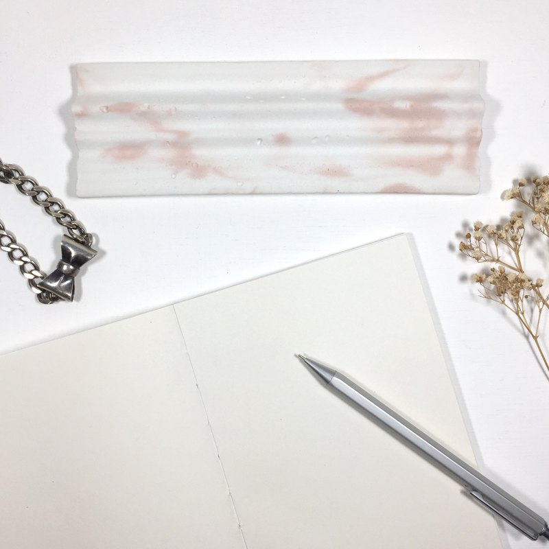 Sakura (pink concrete). Concrete pen tray with wave top