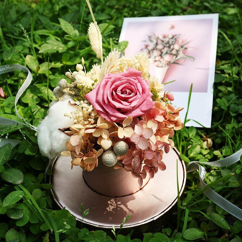 永生花藝體驗- 初學可. 母親節花盒. 自由選色