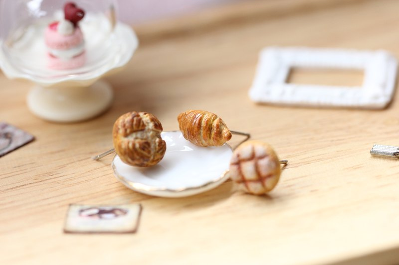 袖珍經典麵包耳環套組 Miniature Classic Bread Earring Set