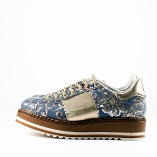 ITA BOTTEGA [Made in Italy] metal embroidery platform casual shoes