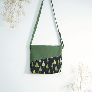 Handmade Forest Shoulder Bag - Black