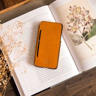 alto Foglia for iPhone X 革製携帯ケース – キャラメル Leather Case