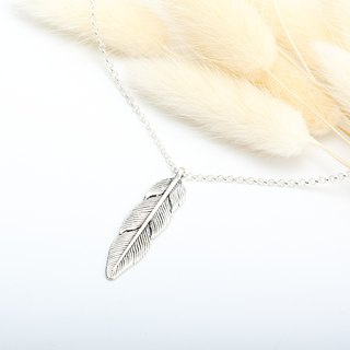 Indian Feather Sterling Silver Necklace Valentine's Day gift