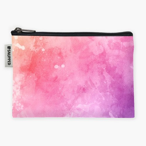 Snupped Zipper - Accessories Pouch - The Heart is a Pink Watercolor