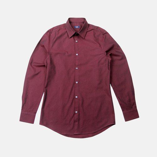 Smith wine color cotton shirt designer y c b pinkoi for Wine colored mens dress shirts