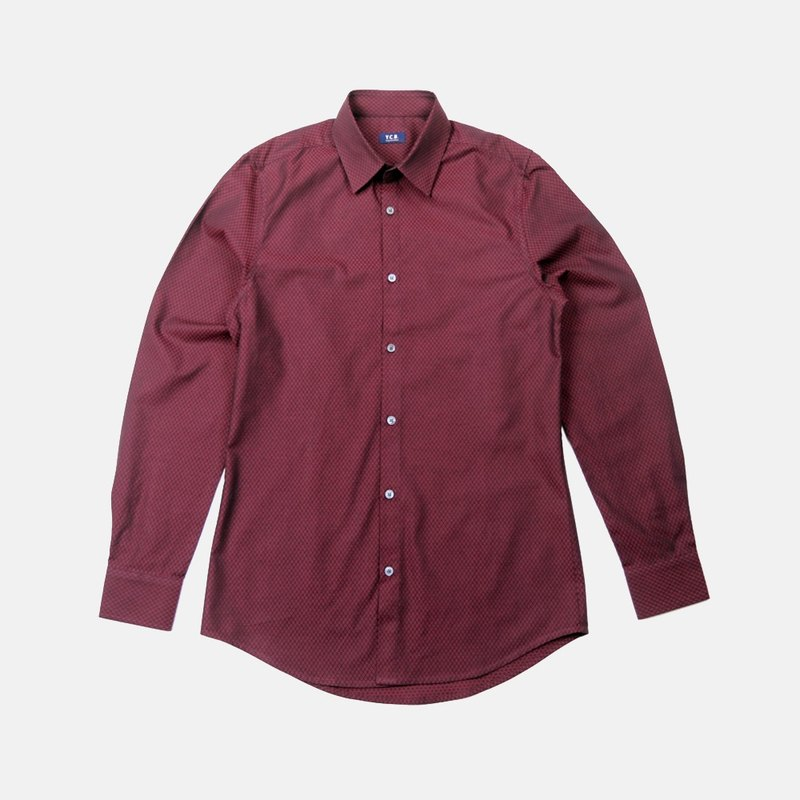 Smith Wine-color Cotton Shirt