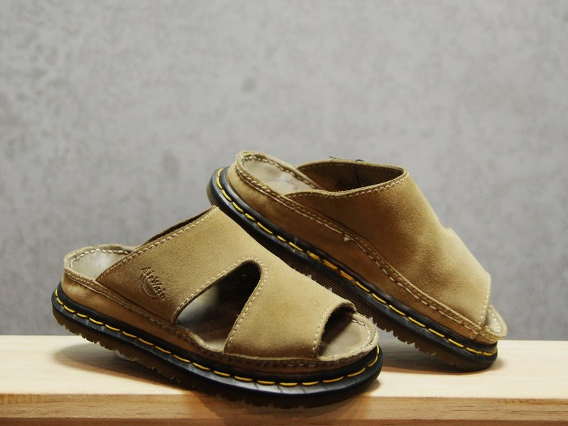 Tsubasa.Y Ancient House Khaki 001 Suede Martin Slippers, Dr.Martens England