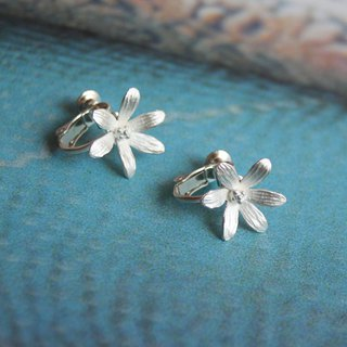 sv925 - 6 petal earrings