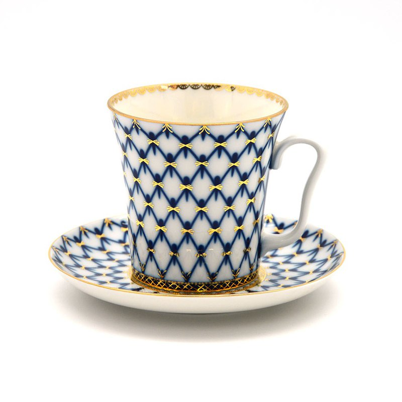 MUG & SAUCER THE COBALT NET