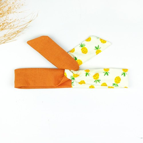 Calf Village Calf Village Handmade Hairline Aluminum Hair Band Multi-Style Headband Stitching Cute Pineapple Wenshu {Lucky Wangwang Hat} 【A-204】