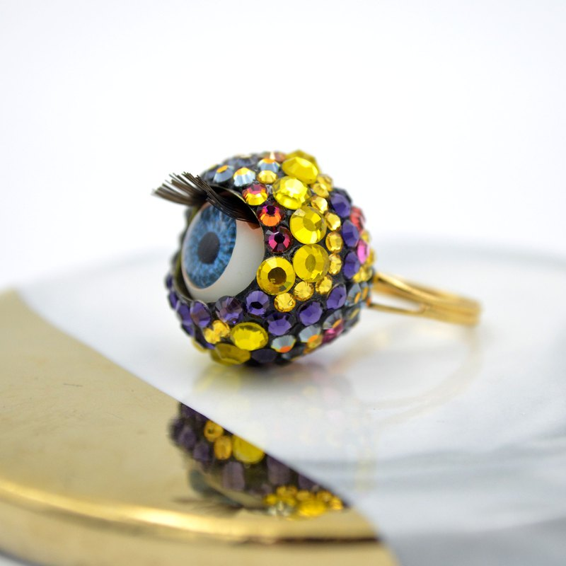 TIMBEE LO Color Crystal Eye Ring SWAROVSKI Swarovski Activity Eyes
