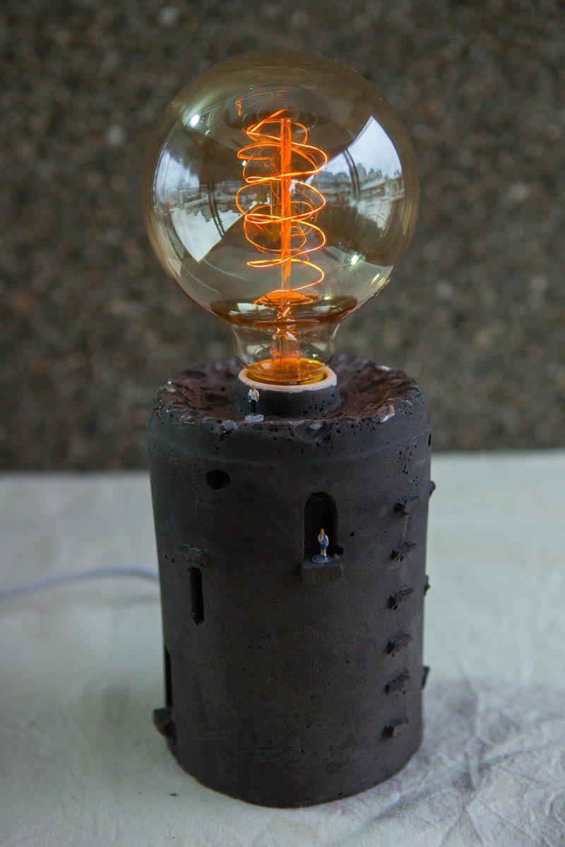 [Rain] Workshop pure hand-made hand-made water mold Lamp - [Black Castle - Crystal Version] Get Lamp