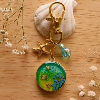 Beauty & Adorable Green Key Chain in Sea Ocean View