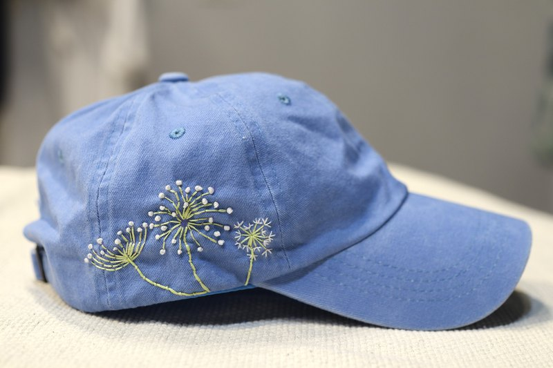 Dandelion hand embroidery hat