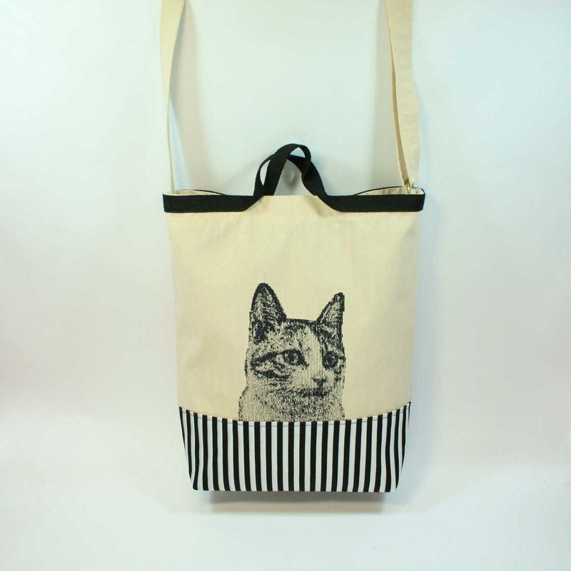 Hand embroidery, shoulder bags dual 03- cat