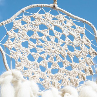 Hand-woven cotton and linen rainbow dream catcher dream Cather / handmade lace dream catcher - clouds