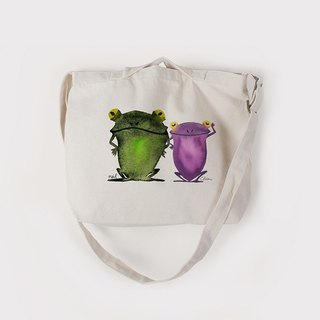 CHIEN X NEIL Freehand Frog | Canvas Style Dual Bag | Medium Canvas