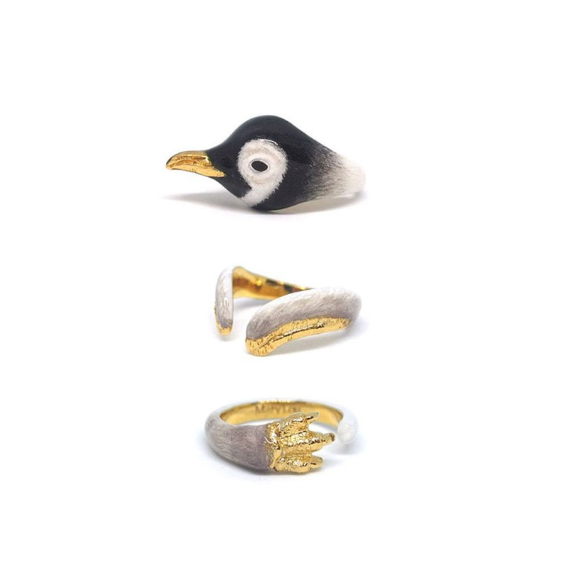 3-Piece Baby Penguin Rings.