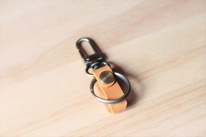 LION's Handmade Leather – gogoro Key Ring Key Leather Can (Yellow)