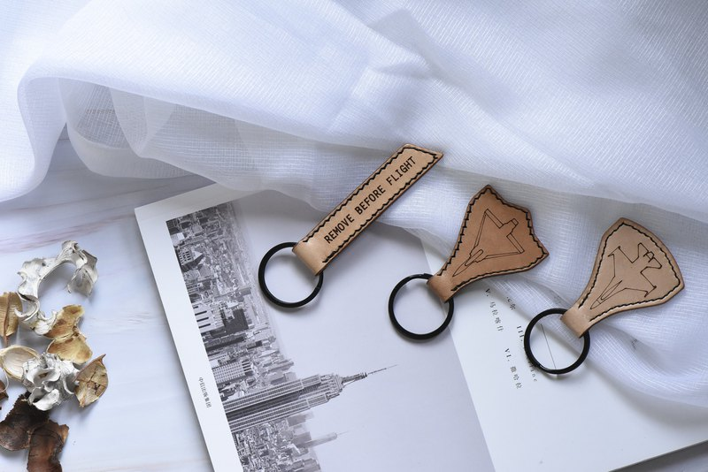 Leather hand made key ring before the flight removed remove before flight / phantom 2000 / F16