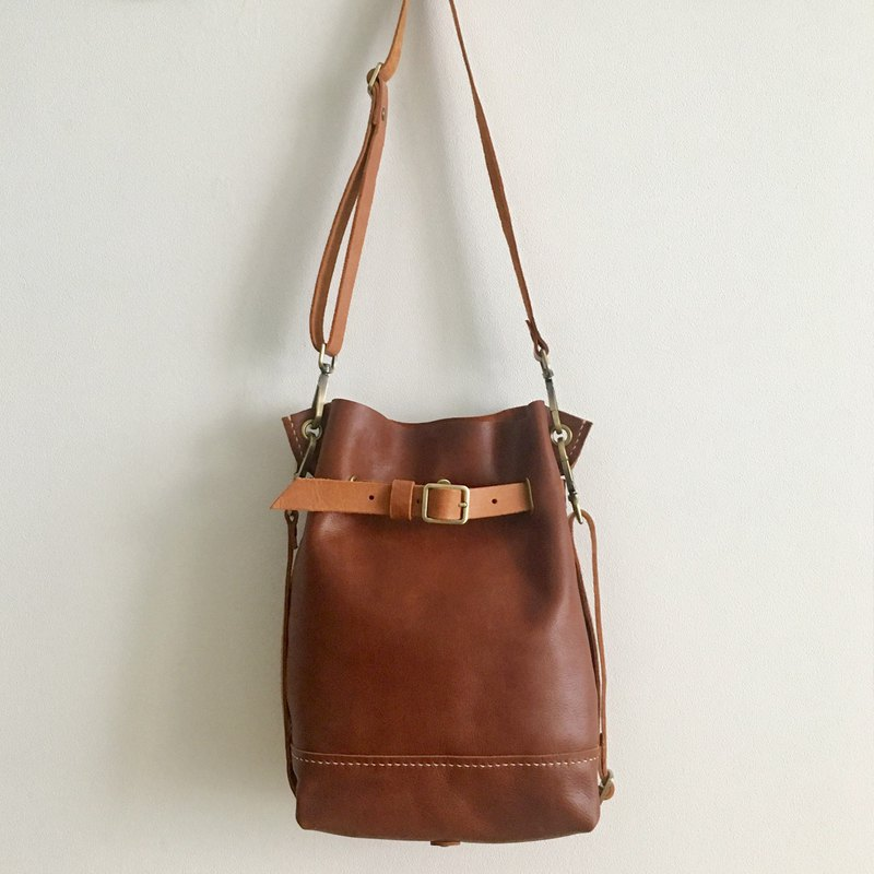 GENUINE LEATHER BACKPACK / SLING BAG