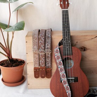 Flower Retro Ukulele Strap 3 in 1