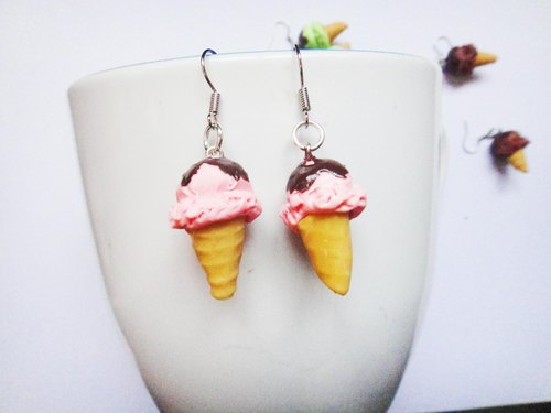 Earrings ice cream 1