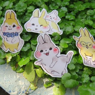 Chubby creak stickers (six up a group)