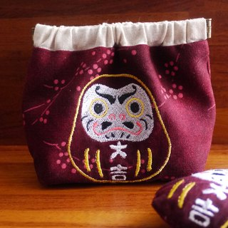 Daji Duo Mo Tumbo Embroidered Shrapnel Gold Closed Bag Wallet (please embroidered in English name please note)