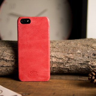 Alto iPhone 5/5S/SE Leather Phone Case Back Original - Coral Red