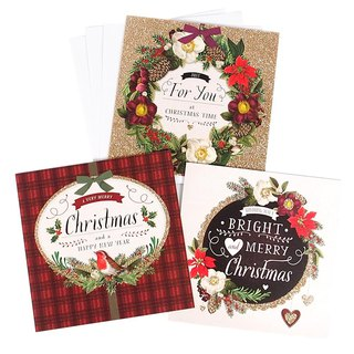 Classic plaid Christmas box card 3 models a total of 18 into [Hallmark-card Christmas series]