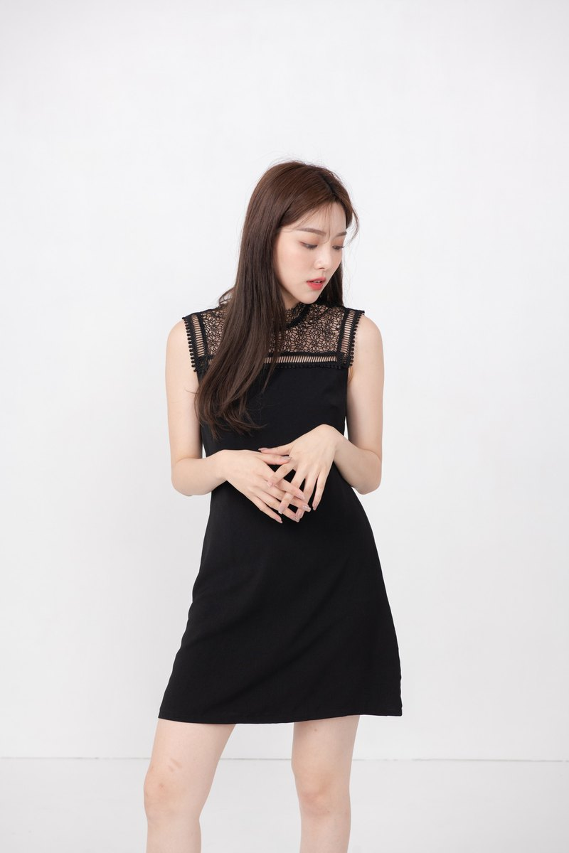 Ashley Black Lace Dress
