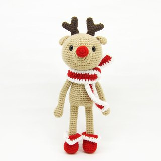 Red Nose Elk - Decoration - Doll - Christmas
