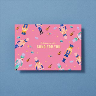 Illustrator postcard-Song for you