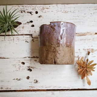 The third floor hand-made pottery coarse crack cup potted flower