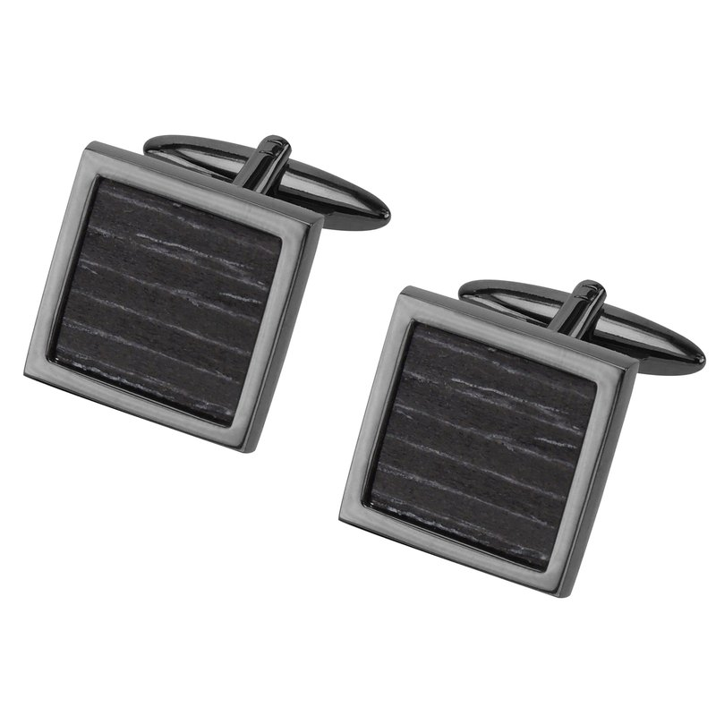 Black Wood Square Cufflinks