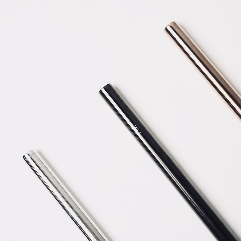 MILX Rough Edition Stainless Steel Metal Straws for Pearls