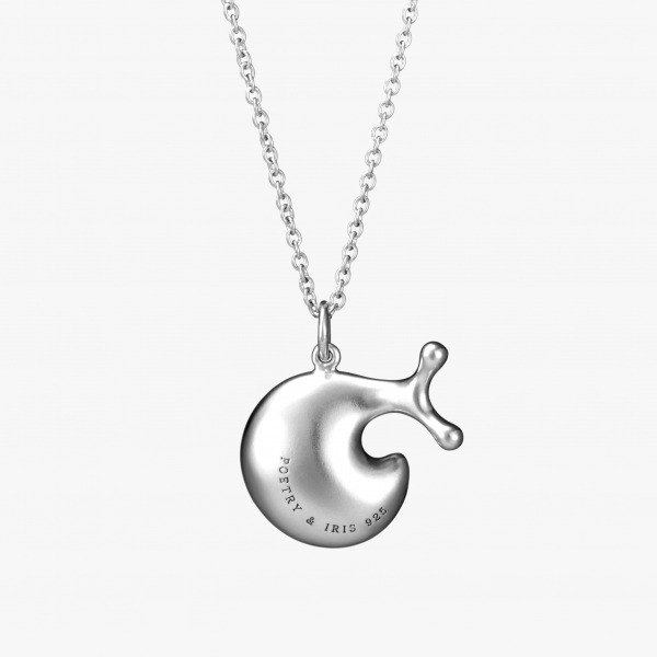 P & I handmade silver jewelry # solid sense - nifty little snail