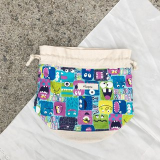 Little Monster / Japanese Cotton print / Shoulder bag  crossbodies  bucket bag