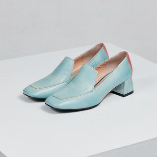 H THREE party happy music shoes / water blue / rough with / retro